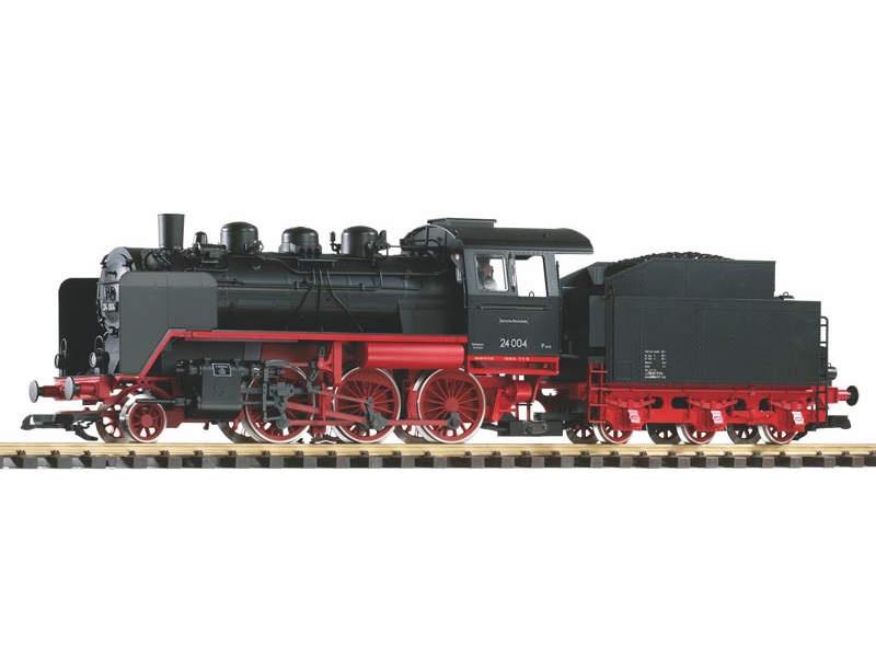 Dampflok mit Tender BR 24 der DR, mit Dampf, Ep. III, Spur G