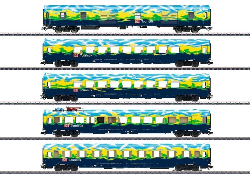 Personenwagenset Touristikzug der DB AG, LED, AC, Spur H0