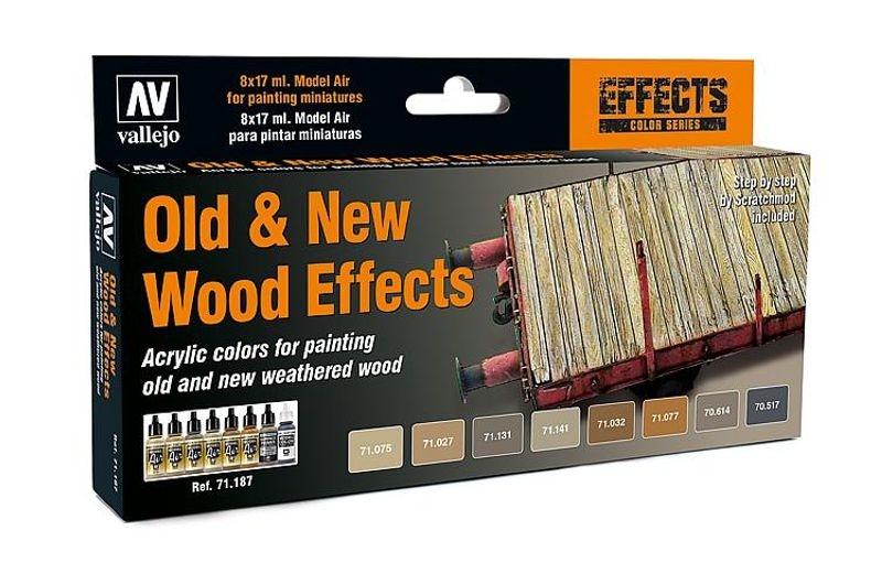 Farb-Set, Alt/Neu Effekt Holz, 8 x 17 ml