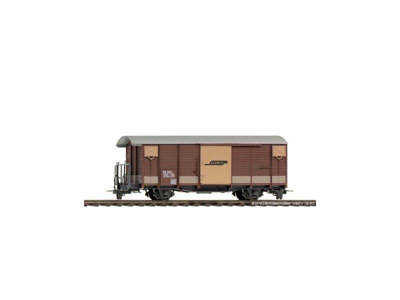 WN 9884 Nostalgie Güterwagen braun der RhB, Spur H0m