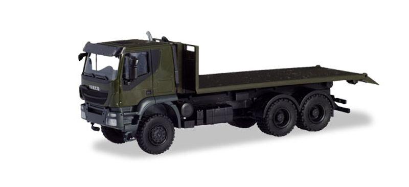 Iveco Trakker 6x6 Abrollflat-LKW Bundeswehr, 1:87 / H0