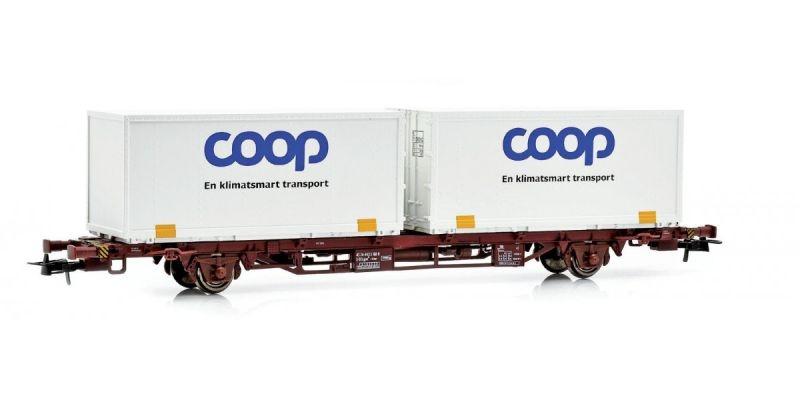 Topline Containertragwagen Lgjns mit COOP Containern,H0
