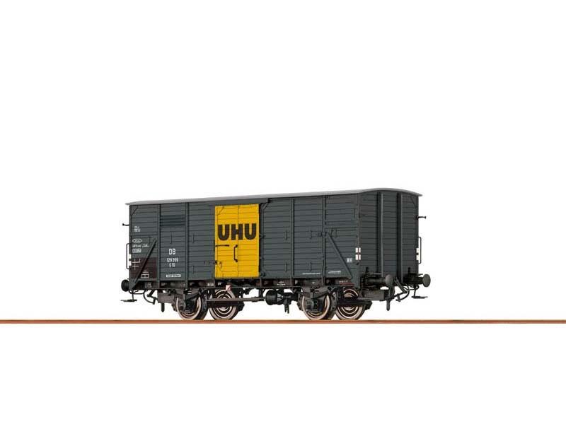Gedeckter Güterwagen G10 UHU der DB, III, DC,Spur H0