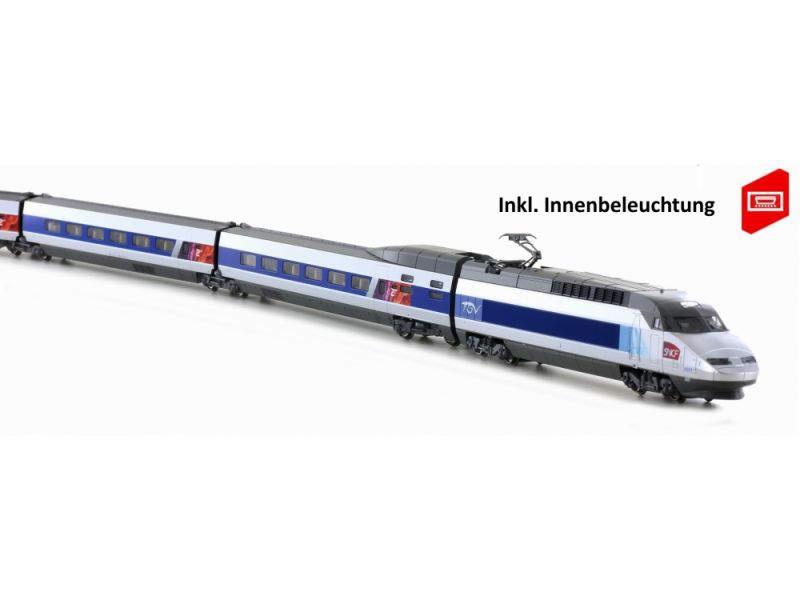 TGV Reseau SNCF,Ep. VI inkl. Innenbeleuchtung,10-tlg.,Spur N