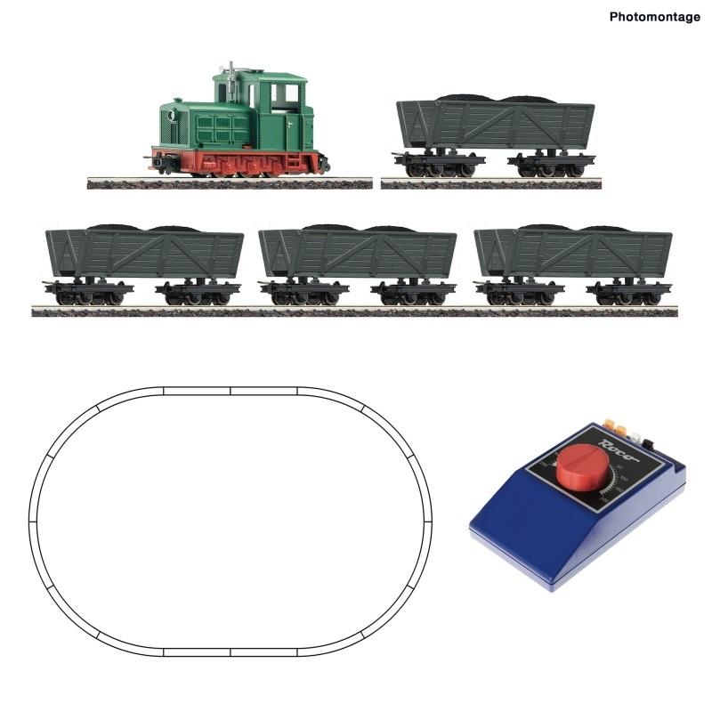 Analog Start Set: Feldbahndiesellokomotive mit Lorenzug, H0e