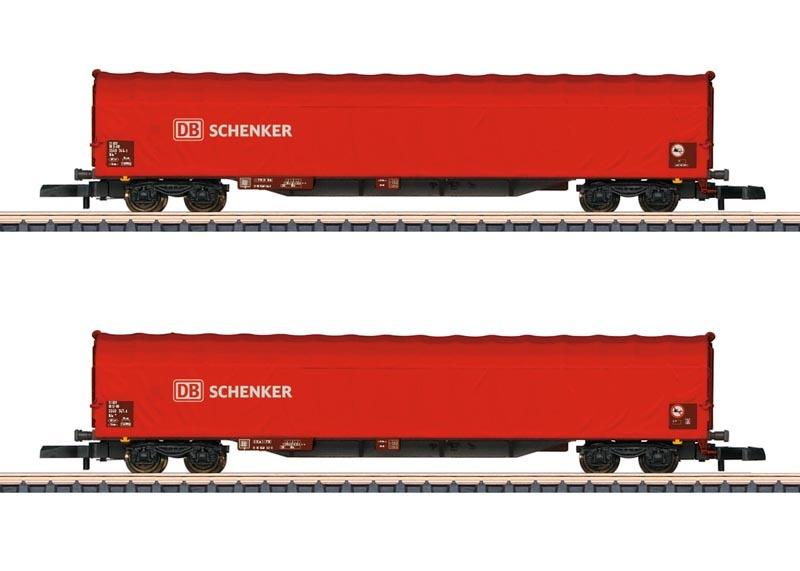 Schiebeplanenwagen-Set der DB AG, Spur Z