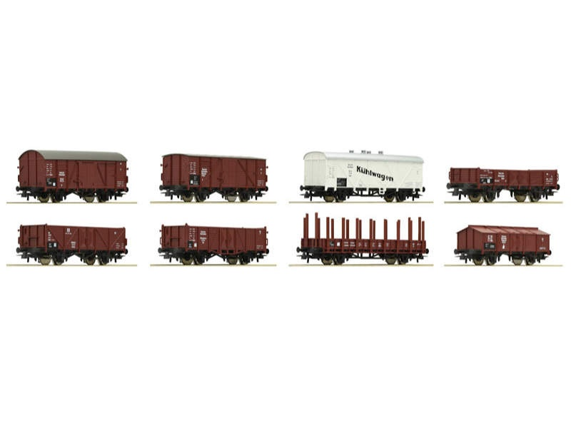 Güterwagenset DRG 8-teilig H0