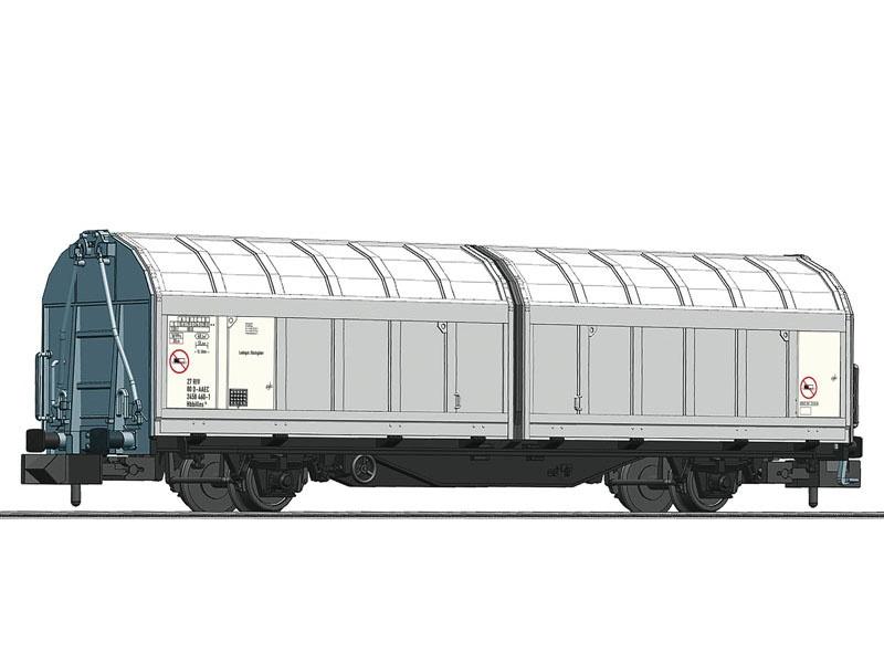 Schiebewandwagen der AAE, grau, Spur N