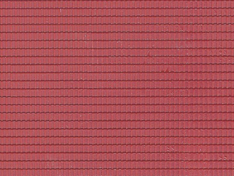 Dachplatte Flachdachpfanne aus Kunststoff, Spur N