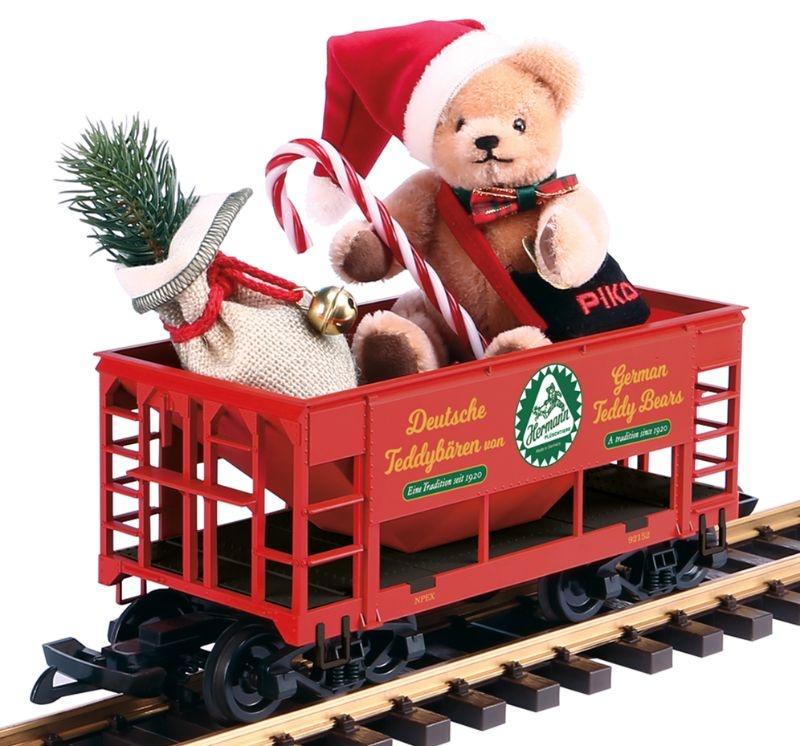Weihnachtsgüterwagen mit Bär von Hermann, Spur G