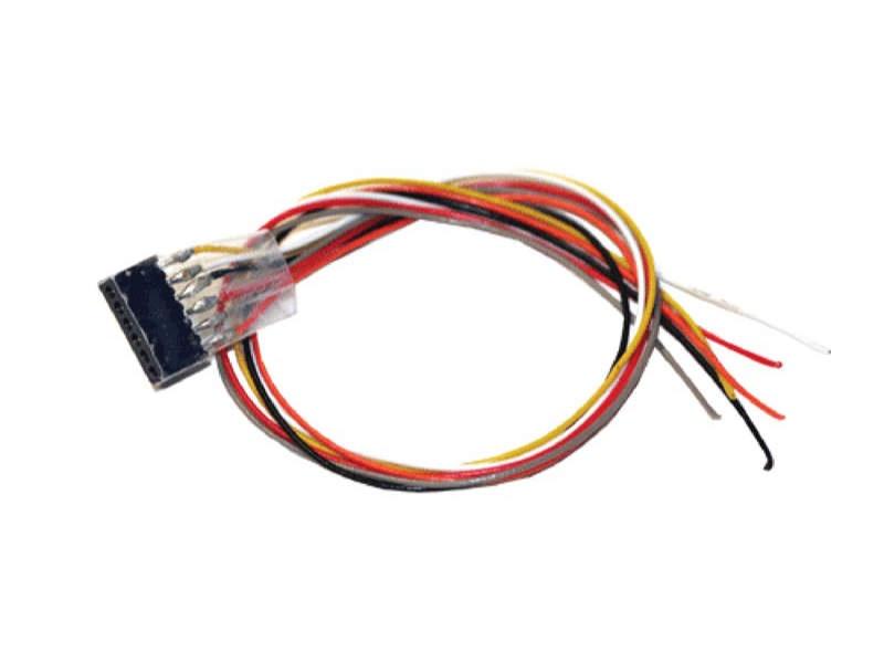 Kabelsatz mit 6-poliger Buchse nach NEM 651, DCC Kabelfarben
