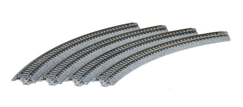Gleis gebogen R 282-45°, 4 Stück, Spur N