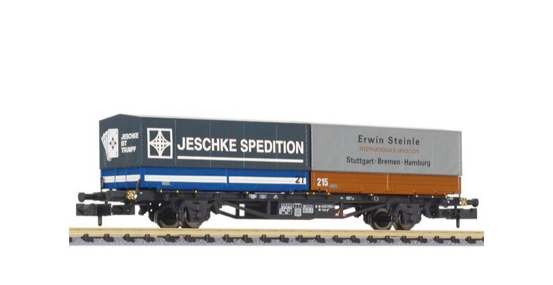 Containertragwagen Lss-y 571 mit Wechselbehältern, Spur N