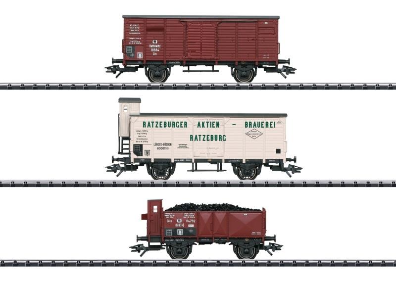 Güterwagen-Set der KPEV, DC, Spur H0