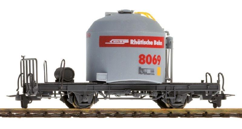 RhB Uce 8032 Zementtransportwagen rotes Band, Spur H0m