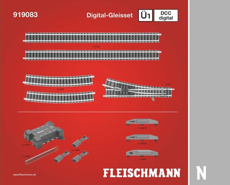 DCC digital, Gleiserweiterungsset Ü1 N-Gleis mit Bettung
