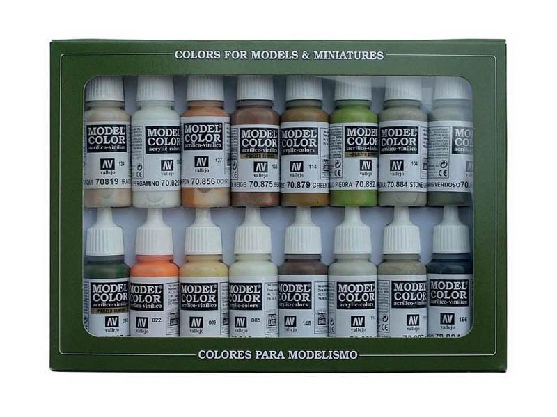 Farb-Set, Erdtöne, 16 x 17 ml