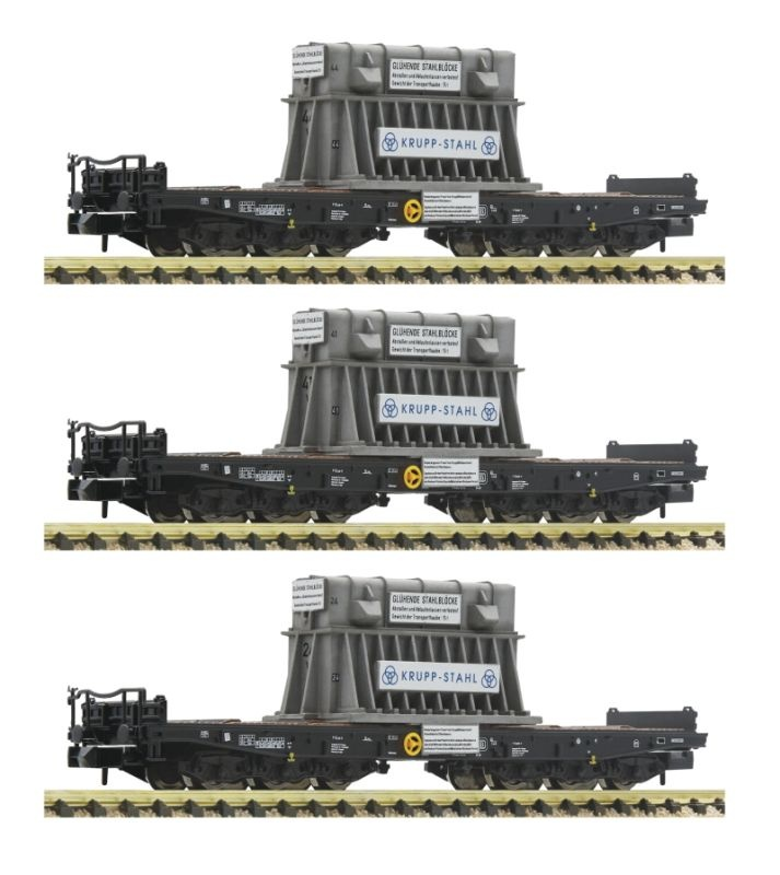 3-tlg. Set Schwerlastwagen Samms der DB, DC, Spur N