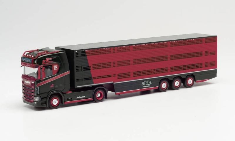 Scania CS 20 HD Viehtransporter-Sattelzug Hachmeister, H0