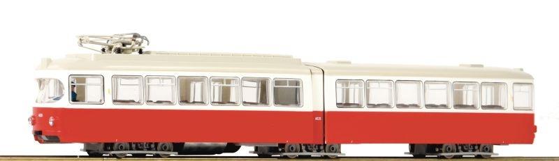 Straßenbahn 6-achsig rot/weiss H0