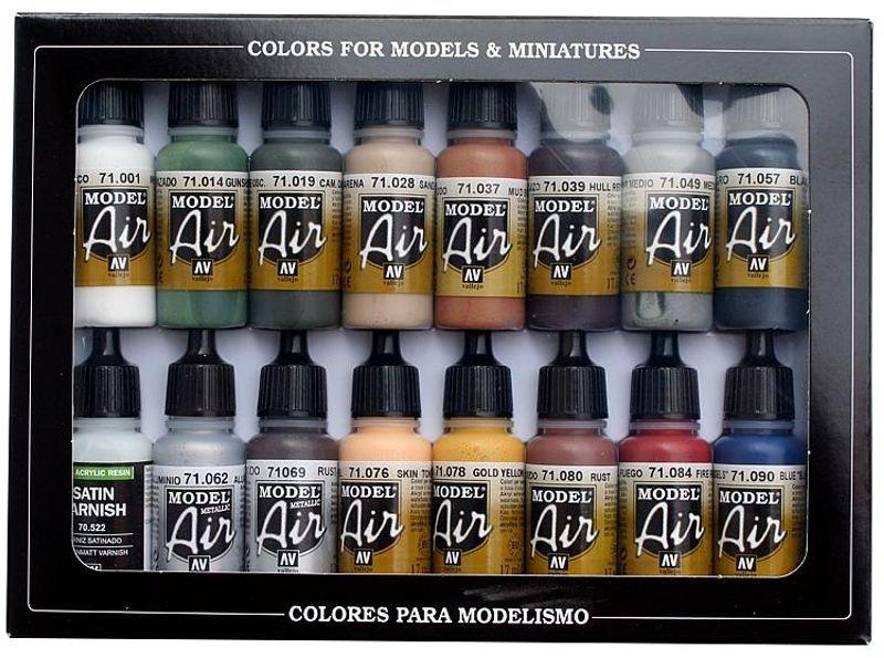 Farb-Set, Eisenbahnfarben, 16 x 17 ml