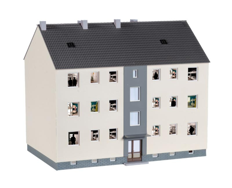 Bausatz Mannschaftsgebäude ca. 18 x 11,5 x 15,5 cm, 1:87