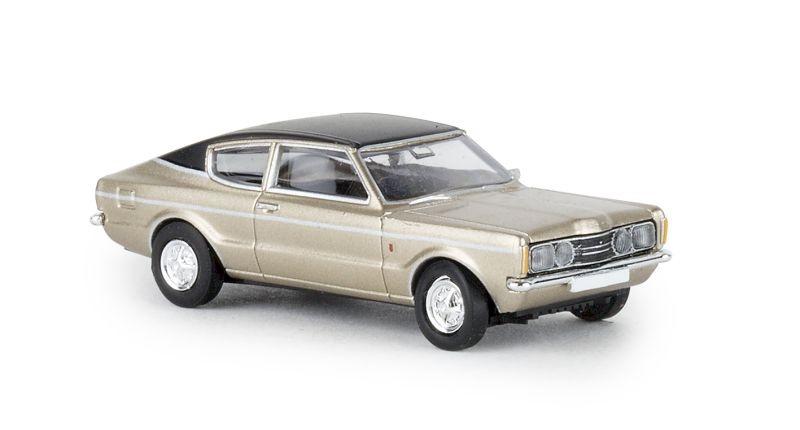 Ford Taunus Coupe GXL gold, schwarz, TD, 1:87 / Spur H0