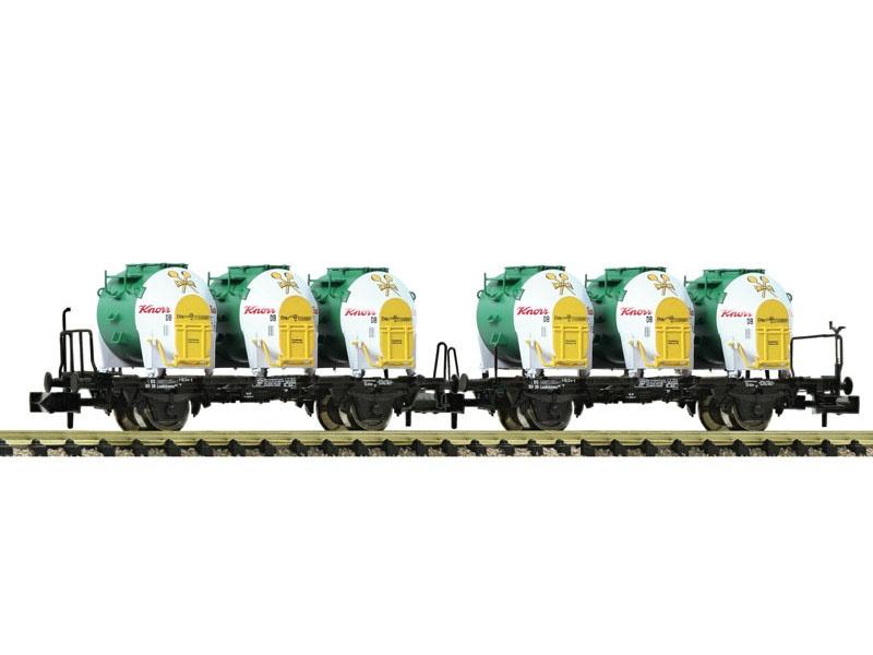 Behältertragwagen-Doppeleinheit Knorr, DB, Spur N