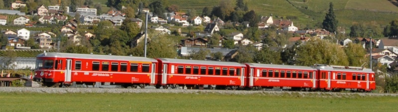 RhB Be 4/4 516/ ABDt 1711 Pendelzug (4-teilig), Spur H0m
