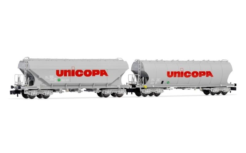 2-tlg. Set Silowagen der SNCF UNICOPA, Spur N