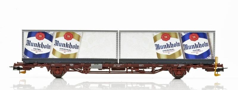 Topline CargoNet Lgns Containertragwagen, Munkholm, H0