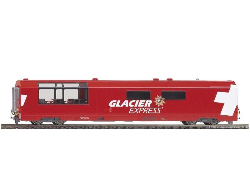 Glacier-Express Panorama-Servicewagen WRp 3832 der RhB, H0m