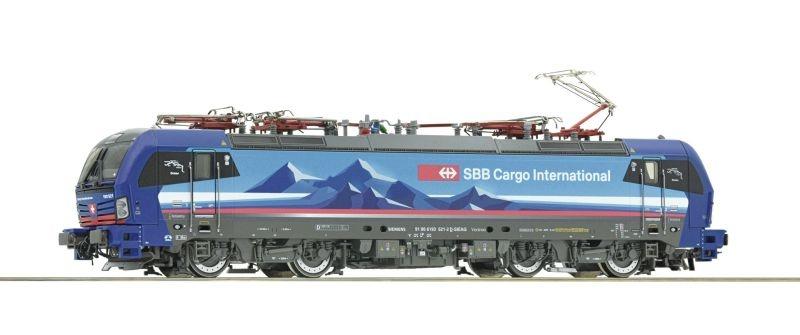 E-Lok 193 521-2 der SBB Cargo International, DC, Spur H0