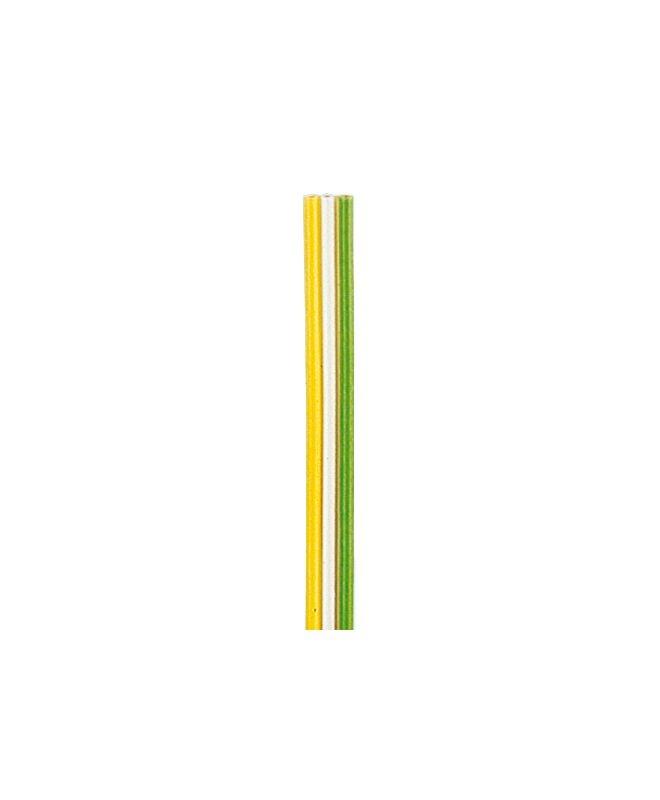 Flachbandlitze 0,14 mm², 5 m, gelb/weiss/grün