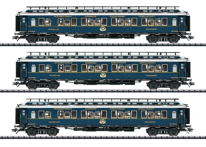 Schnellzugwagen-Set 2 Simplon-Orient-Express, Ep.II, H0
