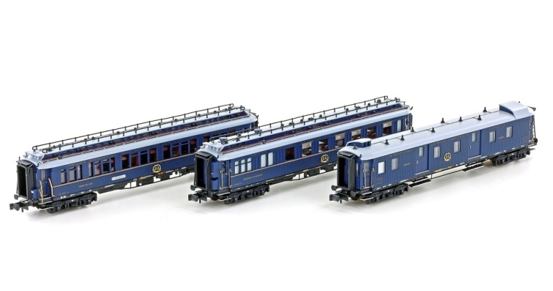 3er Set Personenwagen CIWL, Ep.II, Set 2, blau, Spur N