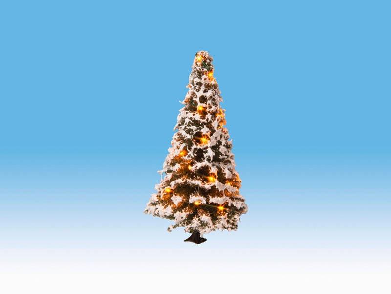Beleuchteter Weihnachtsbaum mit 20 LEDs, verschneit, 8 cm