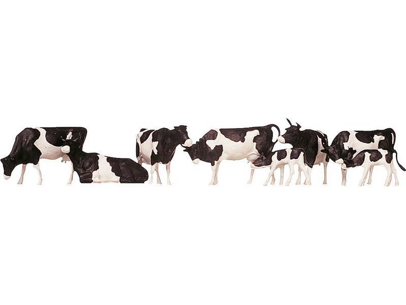 Kühe, schwarz gefleckt H0