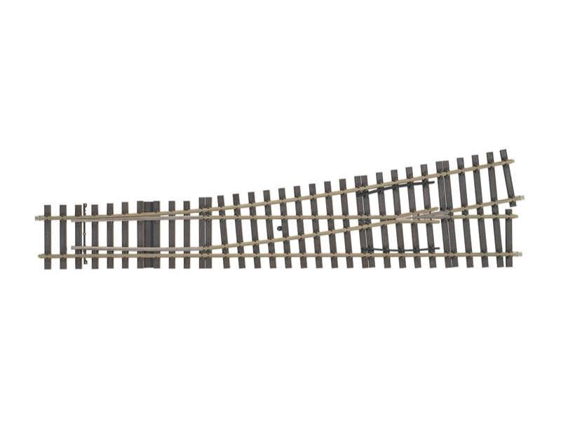 Weichen-Set links 10° Radius 2321 mm (H1001-1S) Spur 1