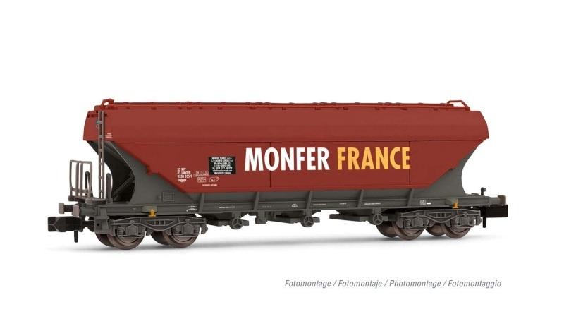 Schwenkdachwagen, flache Wände MONFER FRANCE, Spur N