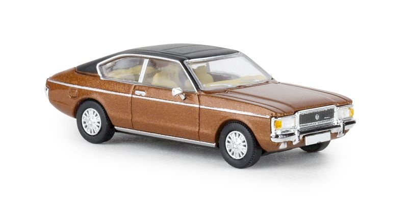 Ford Granada MK I Coupe metallic-braun/matt-schwarz 1974, H0