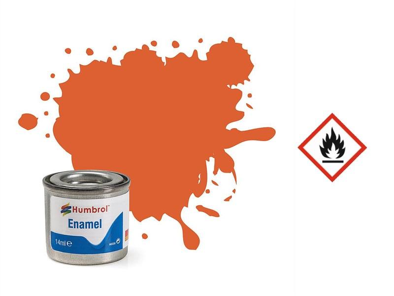Enamel Nr. 82 Verkleidungs-Orange, matt, 14 ml