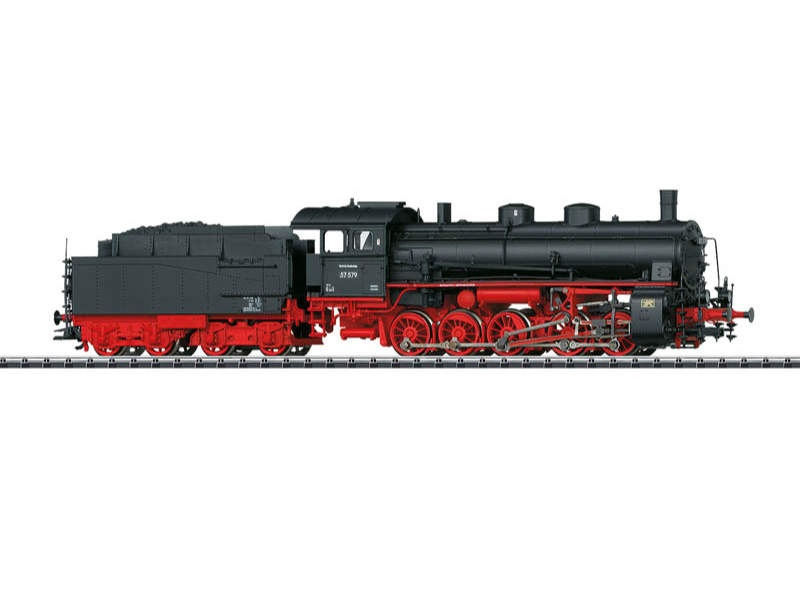 Güterzug-Dampflok BR 57.5 mit Schlepptender DB H0
