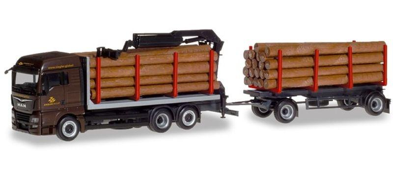 MAN TGX XLX Holztransporter-Hängerzug Ziegler Group, 1:87