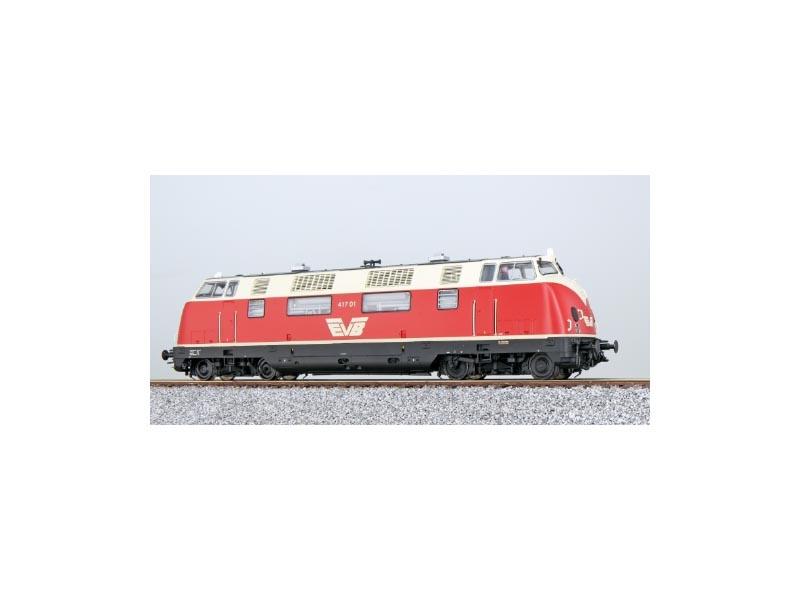 Diesellok V200 417 01 der EVB, Rot-Beige, Epoche V, Spur H0