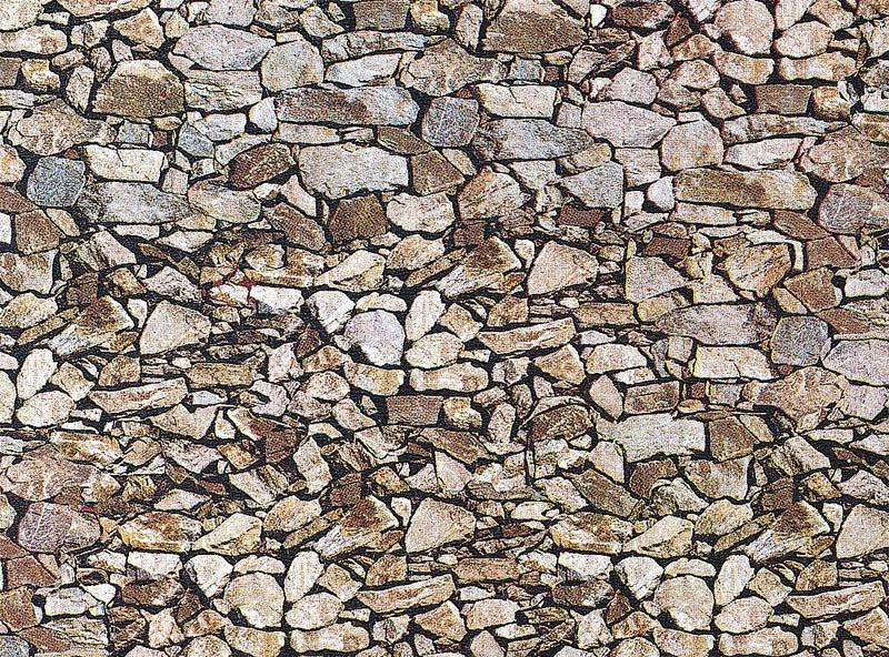 Mauerplatte, Naturstein, Monzonit 250 x 125 x 0,5 mm H0