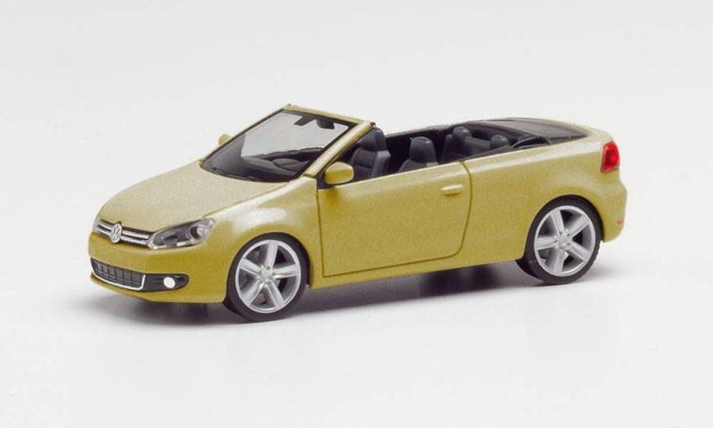 VW Golf Cabrio, Sweet Data Gold Metallic, 1:87 / Spur H0