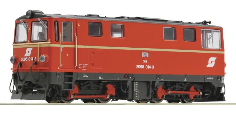 Diesellokomotive 2095 014-3 der ÖBB, DC, Spur H0e