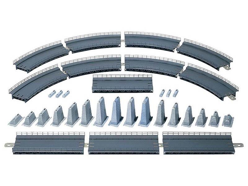 Auf- und Abfahrt komplett Radius 360mm Bausatz H0