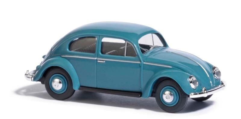 VW Käfer mit Ovalfenster, Blau, Spur H0